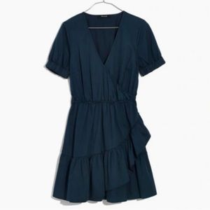 Made well faux wrap ruffle dress
